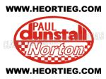 Paul Dunstall Norton Tank and Fairing Transfer Decal D20084A-7